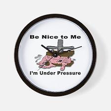 Stress Under Pressure Wall Clock