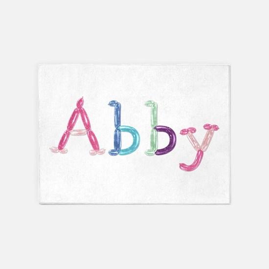 Abby Princess Balloons 5'x7' Area Rug