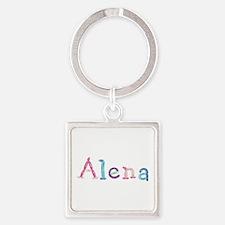Alena Princess Balloons Square Keychain