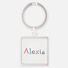 Alexia Princess Balloons Square Keychain