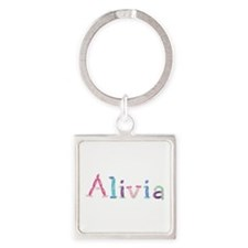 Alivia Princess Balloons Square Keychain