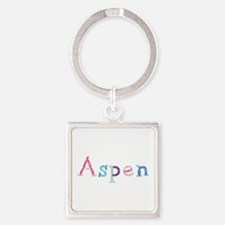 Aspen Princess Balloons Square Keychain
