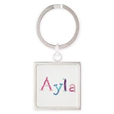 Ayla Princess Balloons Square Keychain