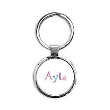 Ayla Princess Balloons Round Keychain
