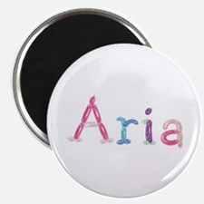 Aria Princess Balloons Round Magnet