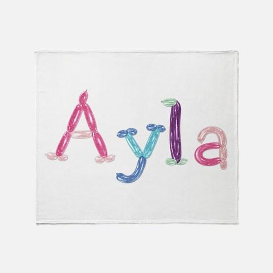 Ayla Princess Balloons Throw Blanket