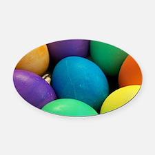Easter Eggs Oval Car Magnet