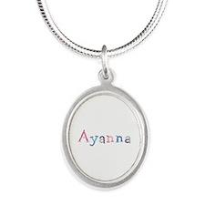 Ayanna Princess Balloons Silver Oval Necklace