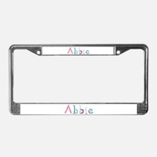 Abbie Princess Balloons License Plate Frame