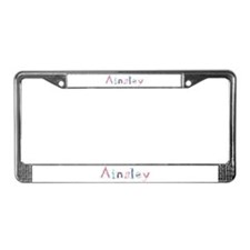 Ainsley Princess Balloons License Plate Frame