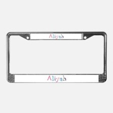 Aliyah Princess Balloons License Plate Frame
