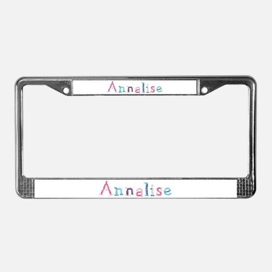 Annalise Princess Balloons License Plate Frame