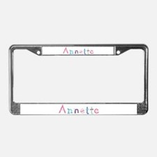 Annette Princess Balloons License Plate Frame
