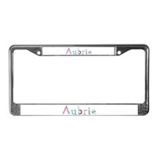 Aubrie Princess Balloons License Plate Frame