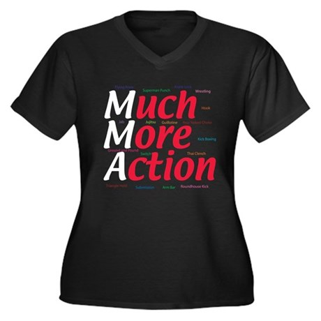 MMA Women's Plus Size V-Neck Dark T-Shirt