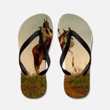 native americans Flip Flops