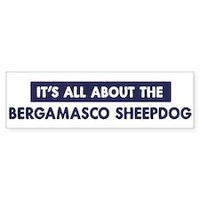 About BERGAMASCO SHEEPDOG Bumper Bumper Bumper Sticker