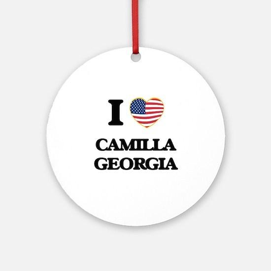 I love Camilla Georgia Ornament (Round)