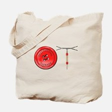 OT Button Design Tote Bag