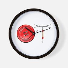 OT Button Design Wall Clock