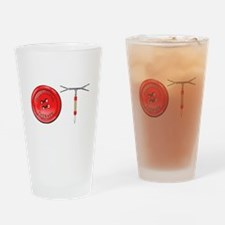 OT Button Design Drinking Glass
