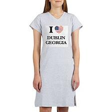 I love Dublin Georgia Women's Nightshirt