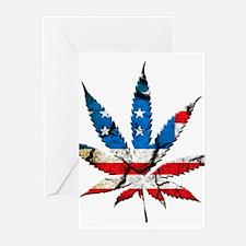 marijuana usa Greeting Cards
