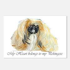 Pekingese Heart Postcards (Package of 8)
