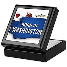 WASHINGTON BORN Keepsake Box
