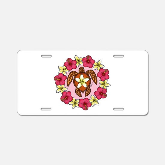 Honu lei Aluminum License Plate