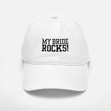 My Bride Rocks Baseball Baseball Cap