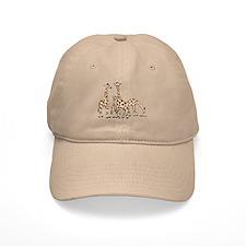 Giraffe Family Portrait in Browns and Beige Baseba