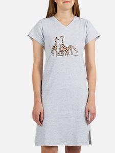 Giraffe Family Portrait in Browns and Beige Women'