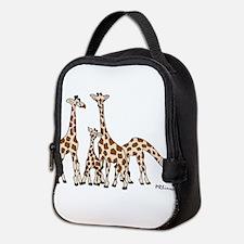 Giraffe Family Portrait In Neoprene Lunch Bag