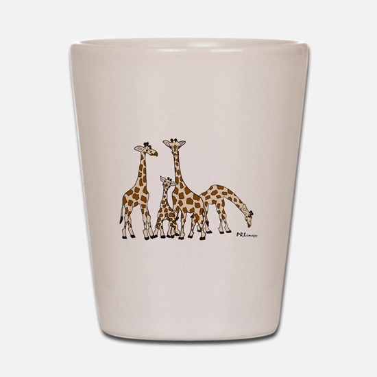 Giraffe Family Portrait in Browns and Beige Shot G