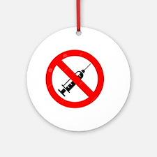 No Vaccine Ornament (Round)