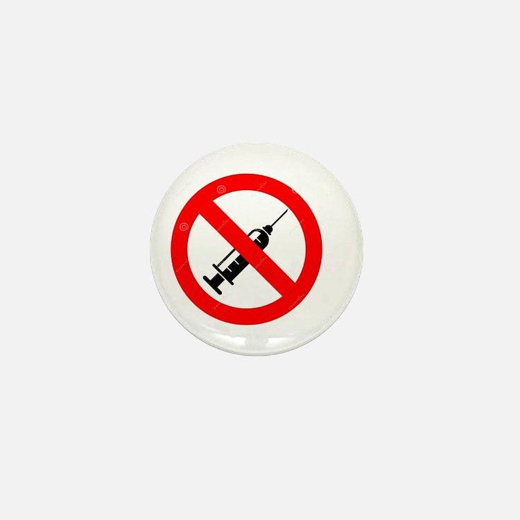 No Vaccine Mini Button