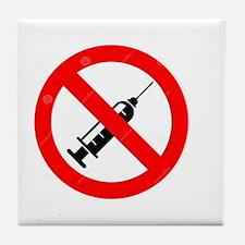 No Vaccine Tile Coaster