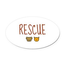 Rescue Oval Car Magnet