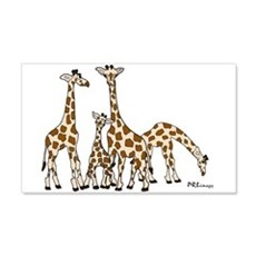 Giraffe Family Portrait In Browns Wall Decal