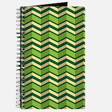 Green Chevron Pattern Journal