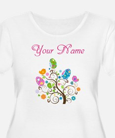 Personalized Easter Tree Plus Size T-Shirt