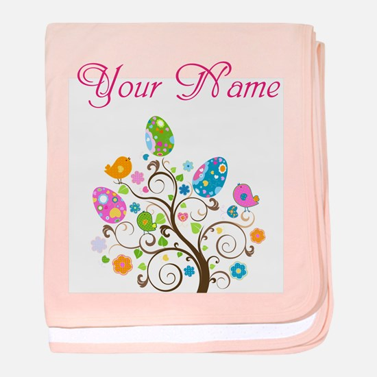 Personalized Easter Tree baby blanket