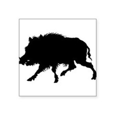 "Cute Wild boar Square Sticker 3"" x 3"""