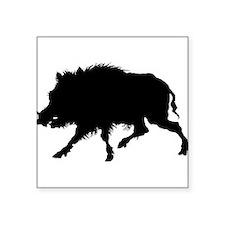 """Cute Hog wild Square Sticker 3"""" x 3"""""""