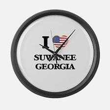 I love Suwanee Georgia Large Wall Clock