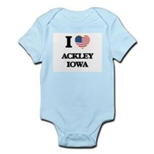 I love Ackley Iowa Body Suit