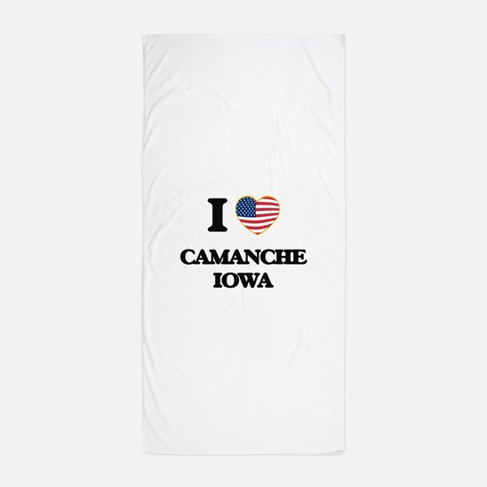 I love Camanche Iowa Beach Towel