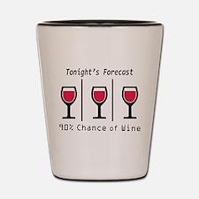 Tonight's Forecast Shot Glass