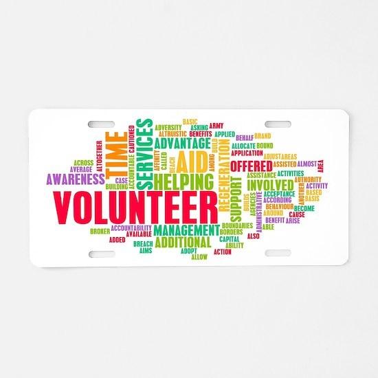 Volunteer Aluminum License Plate